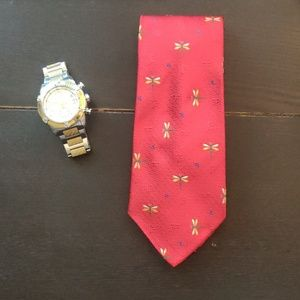 RARE Limited Ed. Salvatore Ferragamo Dragonfly Tie